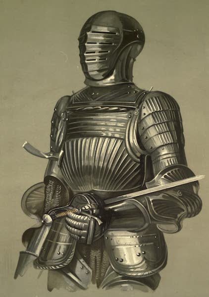 Abbotsford; The Personal Relics and Antiquarian Treasures of Sir Walter Scott - Enlarged Drawing of Armour from Hall Door (1893)