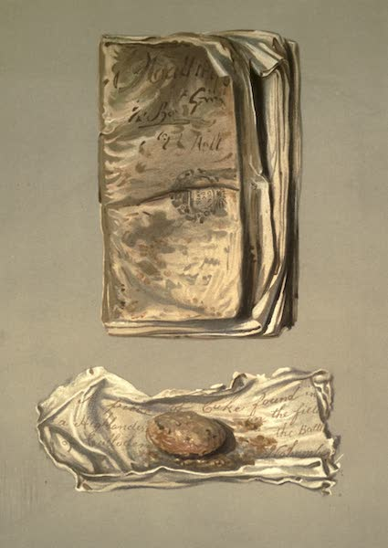 Abbotsford; The Personal Relics and Antiquarian Treasures of Sir Walter Scott - Soldier's Memorandum Book Found on the Field of Waterloo. Piece of Oat-cake Found in the Pocket of A Dead Highlander on the Field of Culloden (1893)