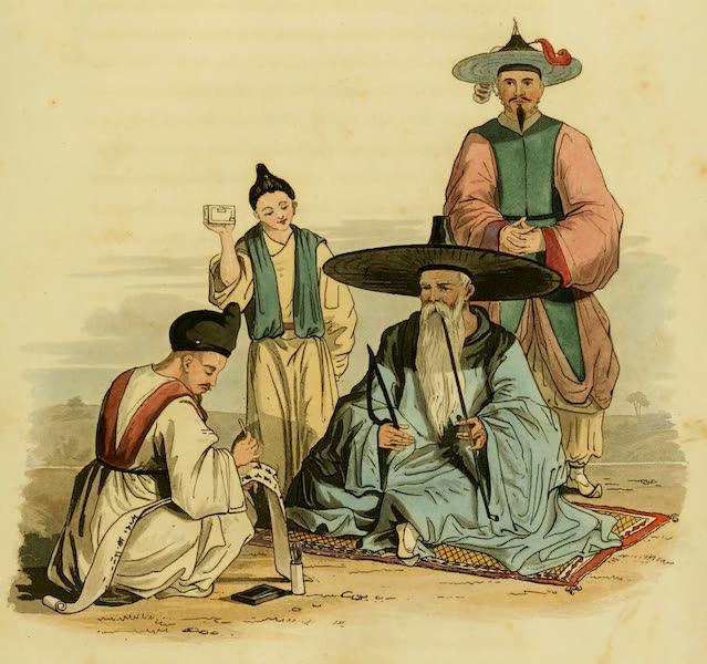 Account of a Voyage of discovery to the West Coast of Corea - Corean Chief and His Secretary (1818)