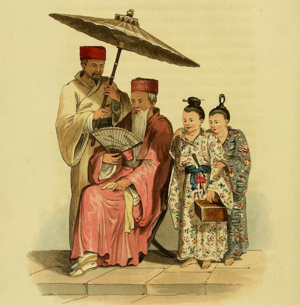 Account of a Voyage of discovery to the West Coast of Corea - Loo Choo Chief and His Two Sons (1818)