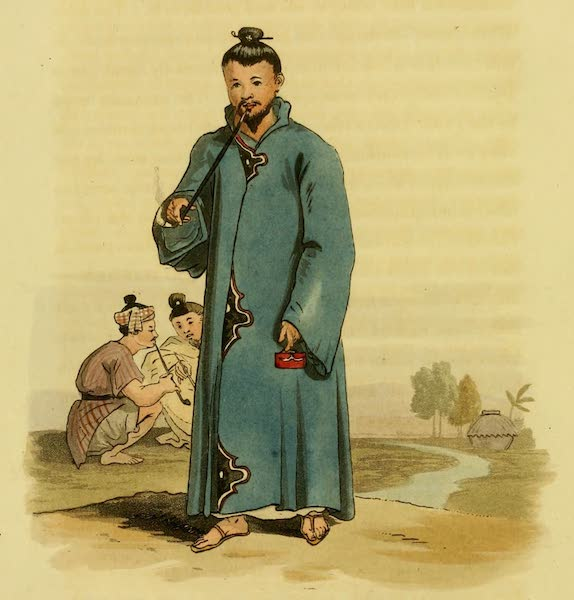 Account of a Voyage of discovery to the West Coast of Corea - Gentleman of Loo Choo in His Cloak (1818)