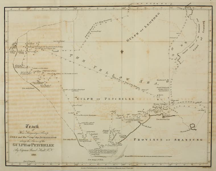 Account of a Voyage of discovery to the West Coast of Corea - Chart of the Gulf of Pee-Chee-Lee (1818)