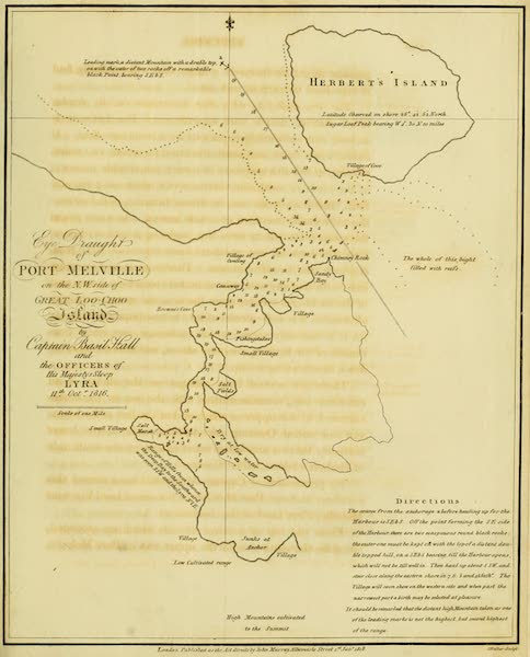 Account of a Voyage of discovery to the West Coast of Corea - Port Melville (1818)