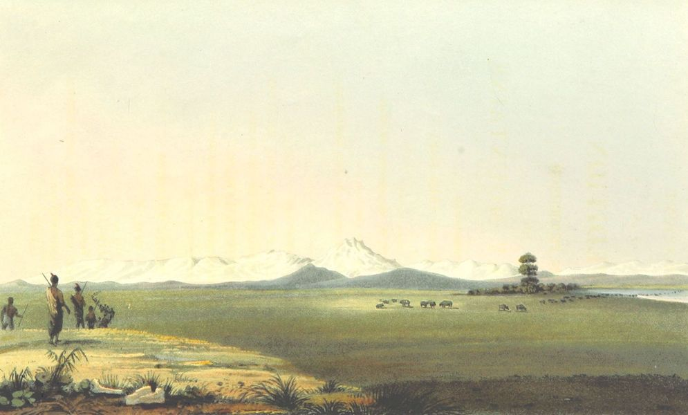 Account of an Expedition from Pittsburgh to the Rocky Mountains Vol. 1 - Distant View of the Rocky Mountains (1823)
