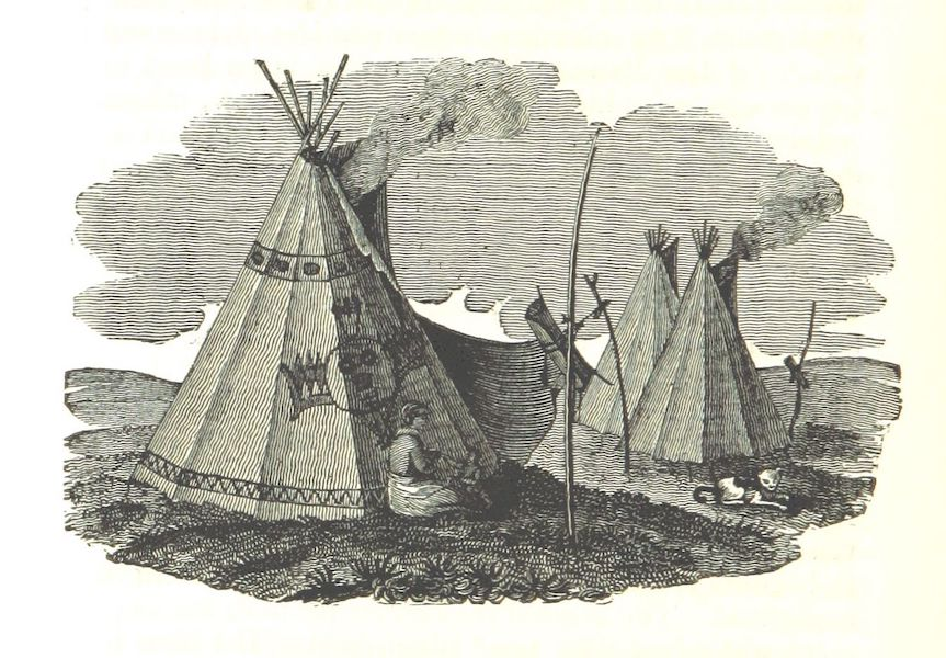 Account of an Expedition from Pittsburgh to the Rocky Mountains Vol. 2 - Indian Wig-Wams (1823)