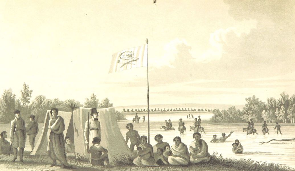 Account of an Expedition from Pittsburgh to the Rocky Mountains Vol. 3 - Kiawa Encampment (1823)