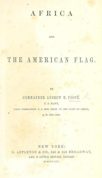 Africa and the American Flag - Title Page (1854)