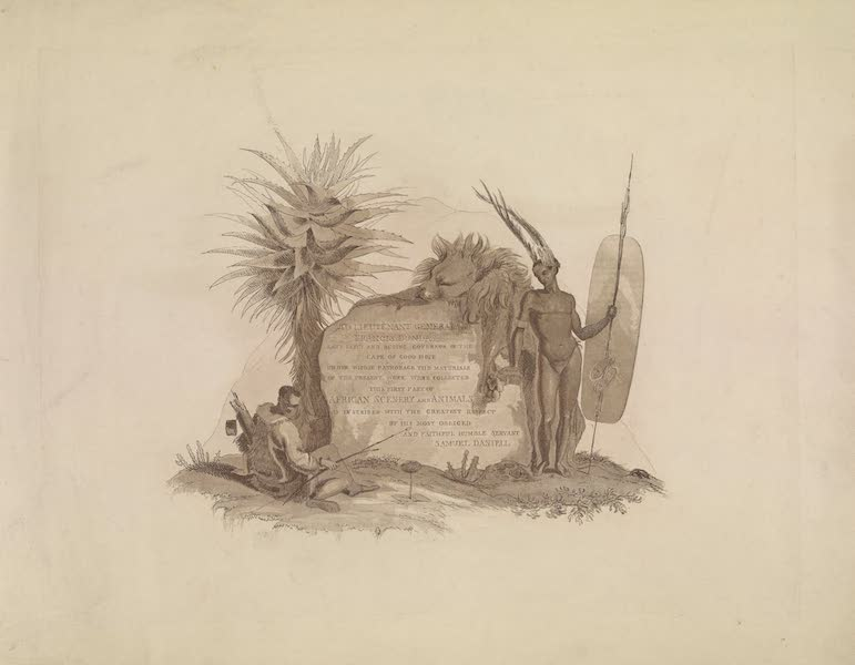 African Scenery and Animals - Title Page - First Part (1804)