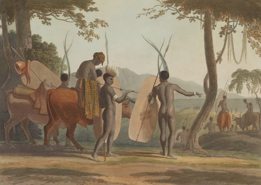 African Scenery and Animals - Kaffers on a March (1804)