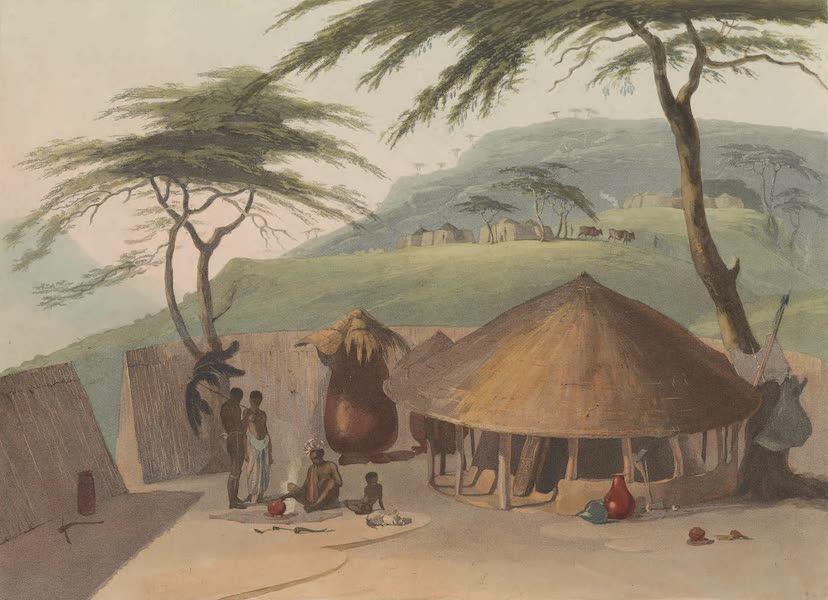African Scenery and Animals - A Boosh-Wannah Hut (1804)