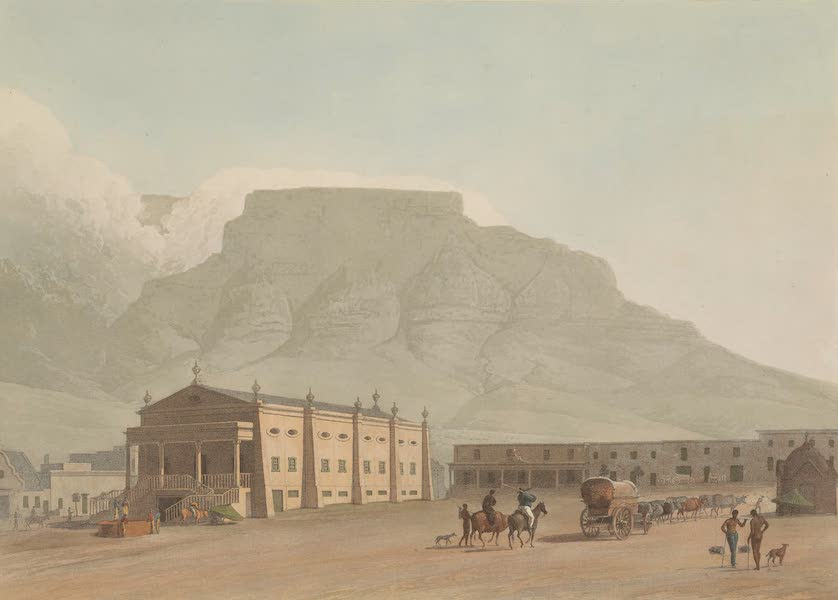 African Scenery and Animals - The New Theatre in Hottentot Square (1804)