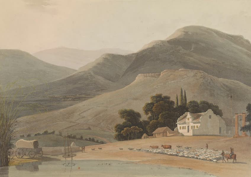 African Scenery and Animals - A Farm House (1804)