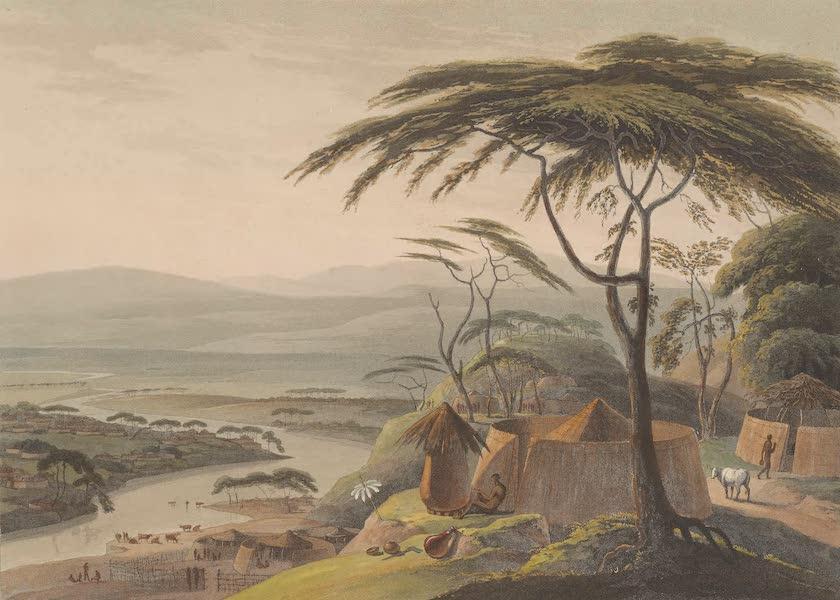 African Scenery and Animals - Town of Leetakoo (1804)