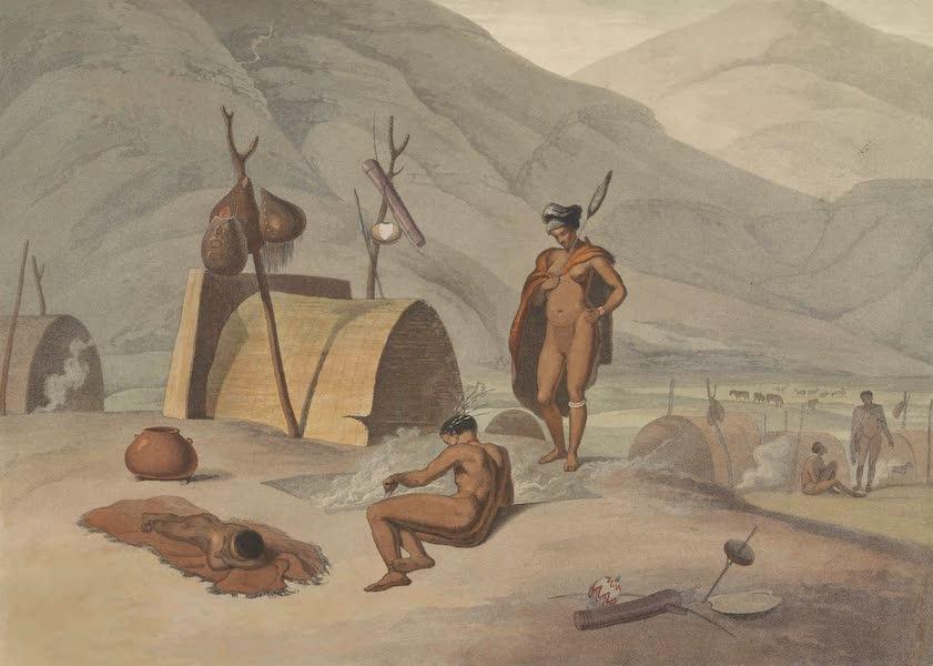 African Scenery and Animals - Bosjesmans Frying Locusts (1804)