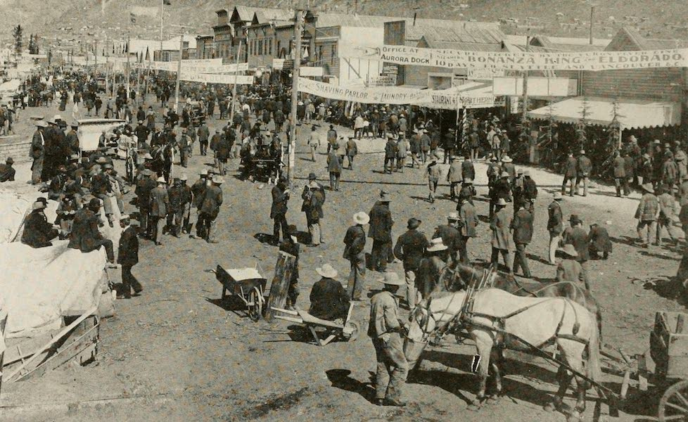 Alaska, Our Beautiful Northland of Opportunity - A Street Scene in Dawson in the Early Days (1919)