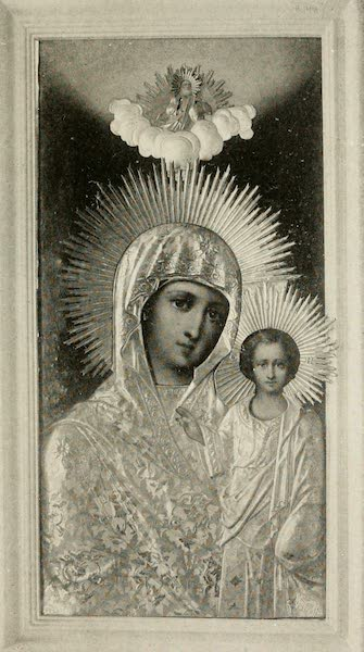 """Alaska, Our Beautiful Northland of Opportunity - """"Madonna and Child,"""" in the Greek Church, Sitka (1919)"""