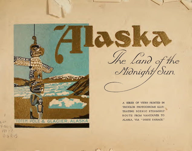 Aquatint & Lithography - Alaska the Land of the Midnight Sun