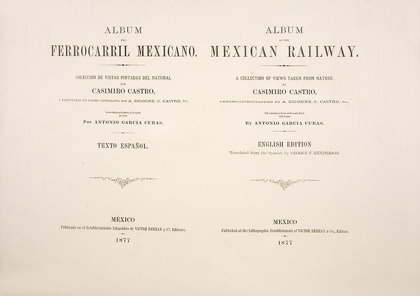 Album del Ferro-Carril Mexicano - Title Page (1877)