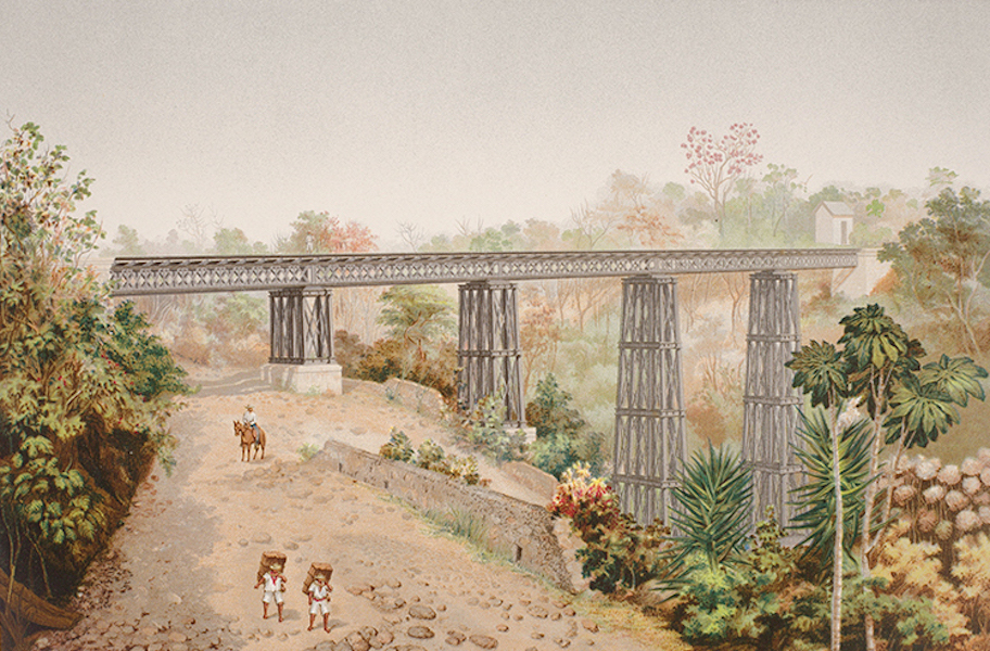 Album del Ferro-Carril Mexicano - Puente de San Alejo (1877)