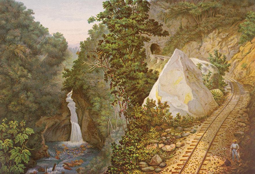 Album del Ferro-Carril Mexicano - Tunel No.2 y Salto del Atoyac (1877)