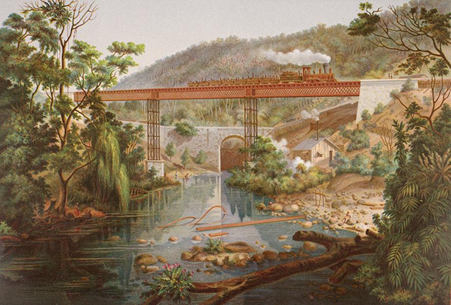 Album del Ferro-Carril Mexicano - Puente del Atoyac (1877)