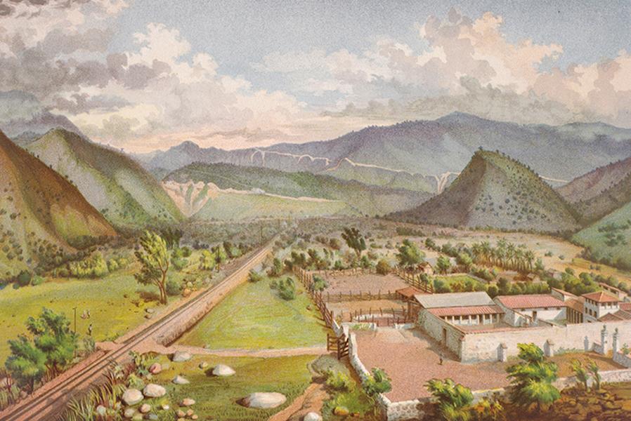 Album del Ferro-Carril Mexicano - Cumbres de Maltrata (desde la Hacienda del Encinal) (1877)