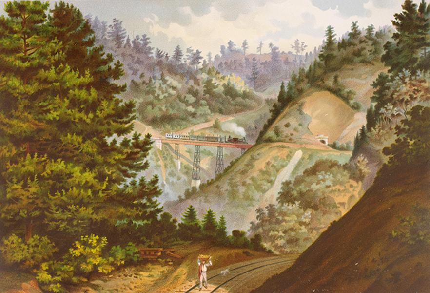 Album del Ferro-Carril Mexicano - Puente de Wimer (Cumbres de Maltrata) (1877)
