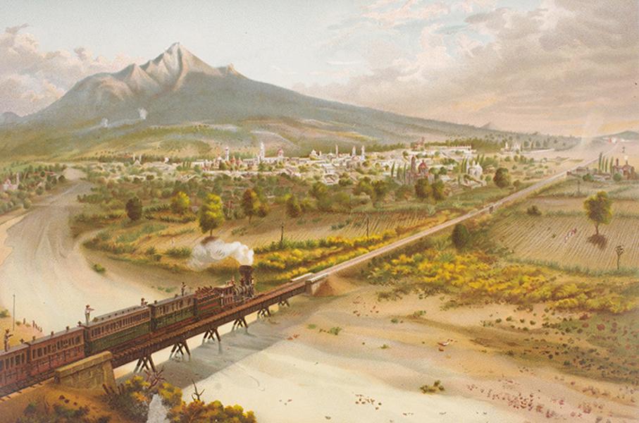 Album del Ferro-Carril Mexicano - Huamantla (tomado desde el Puente de San Lucas) (1877)