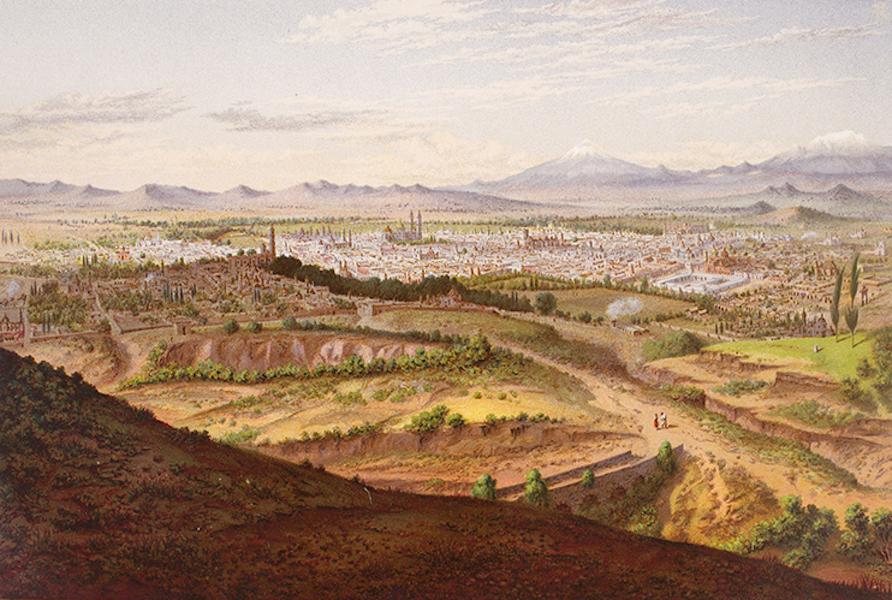 Album del Ferro-Carril Mexicano - Panorama de Puebla (tomado desde el fuerte Guadalupe) (1877)