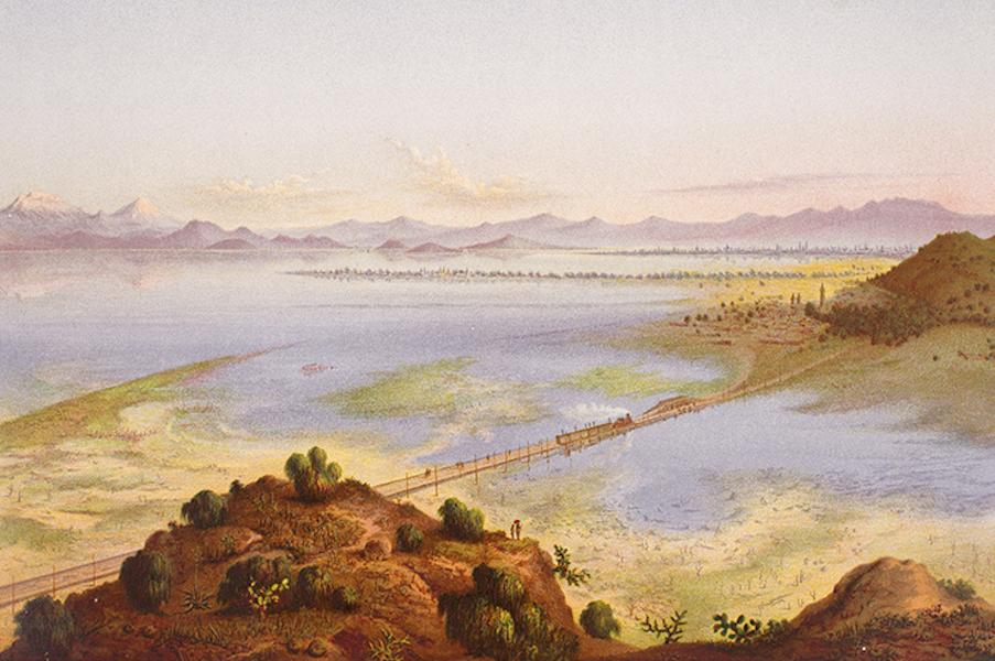 Album del Ferro-Carril Mexicano - Valle de Mexico (tomado desde el cerro del Risco) (1877)