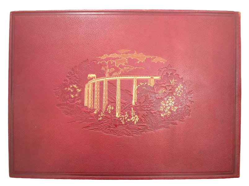Album del Ferro-Carril Mexicano - Back Cover (1877)