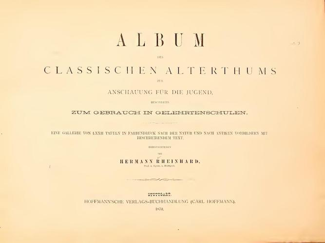Aquatint & Lithography - Album des classischen Alterthums