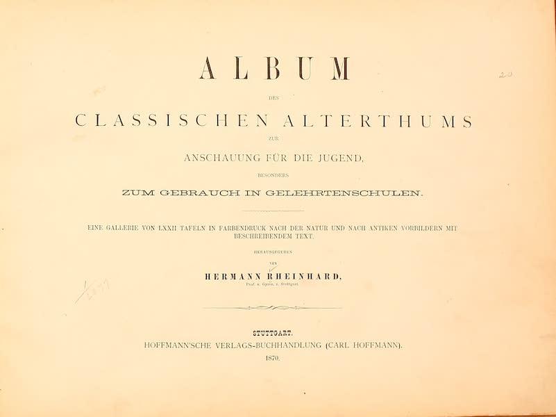 Album des classischen Alterthums - Title Page (1870)