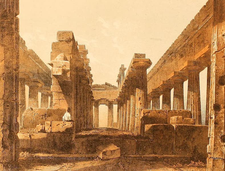 Album des classischen Alterthums - Neptun-Tempel in Paestum (1870)