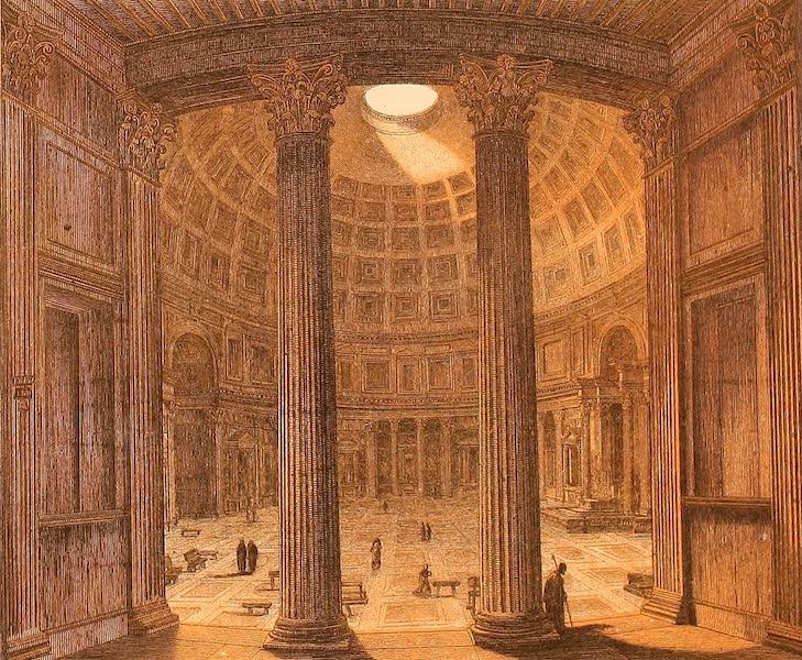 Album des classischen Alterthums - Pantheon (innen) in Rom (1870)
