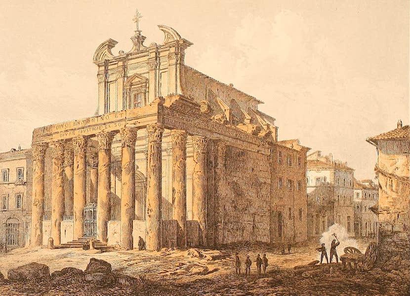 Album des classischen Alterthums - Tempel der Faustina in Rom (1870)