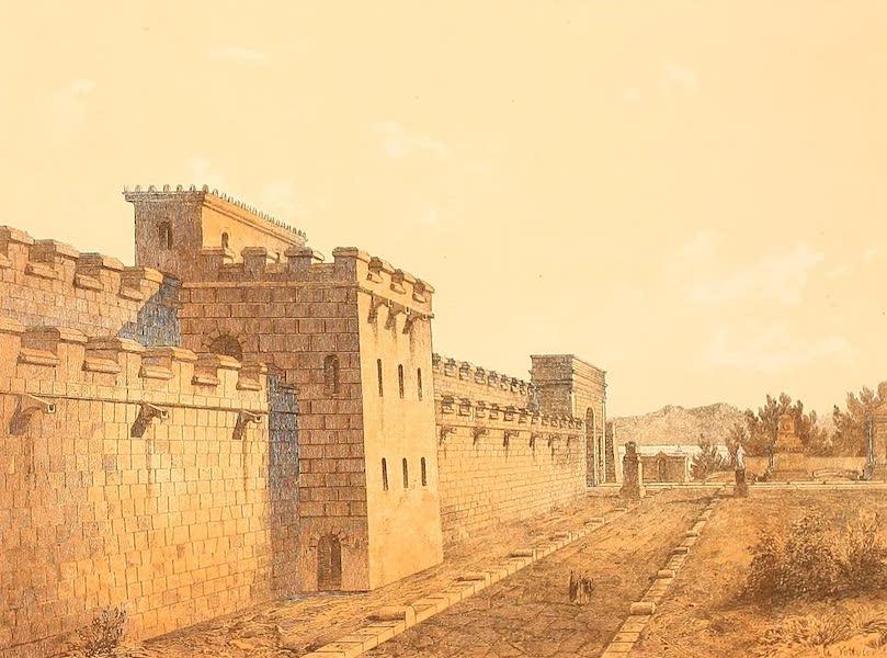 Album des classischen Alterthums - Strasse und Stadtmauer in Pompeji (1870)