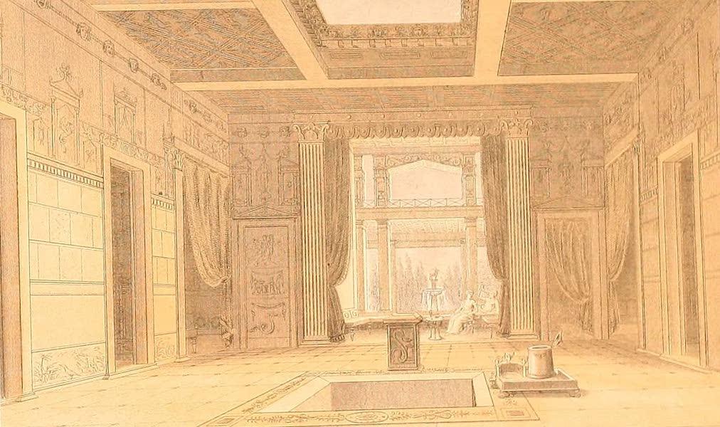 Album des classischen Alterthums - Saal im Hause des Sallust in Pompeji (1870)
