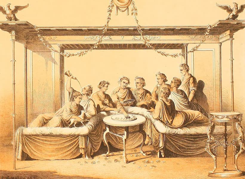 Album des classischen Alterthums - Mahlzeit (1870)