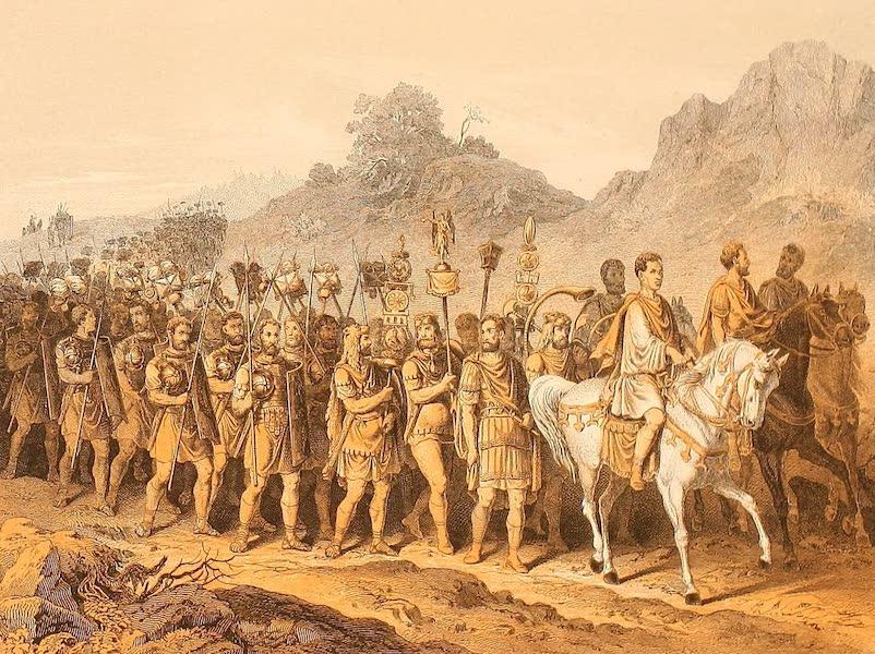 Album des classischen Alterthums - Romische Soldaten auf dem Marsche (1870)
