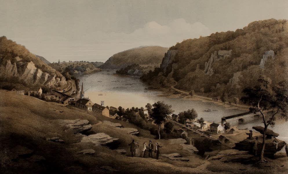 Album of Virginia - Harper's Ferry from Jefferson Rock (1858)