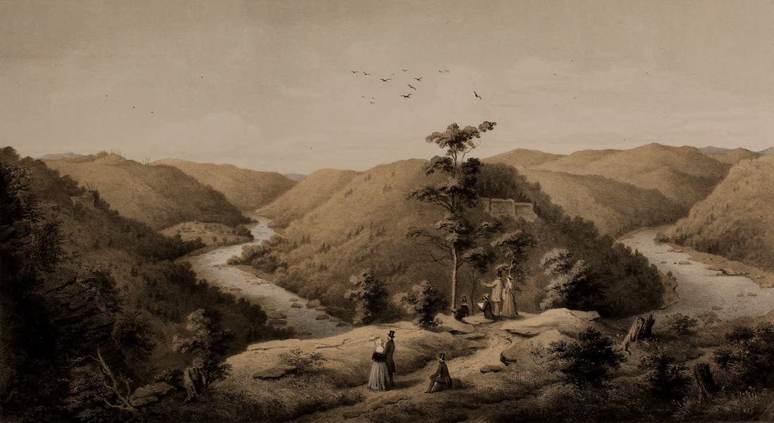 Album of Virginia - View from the Hawk's Nest (1858)