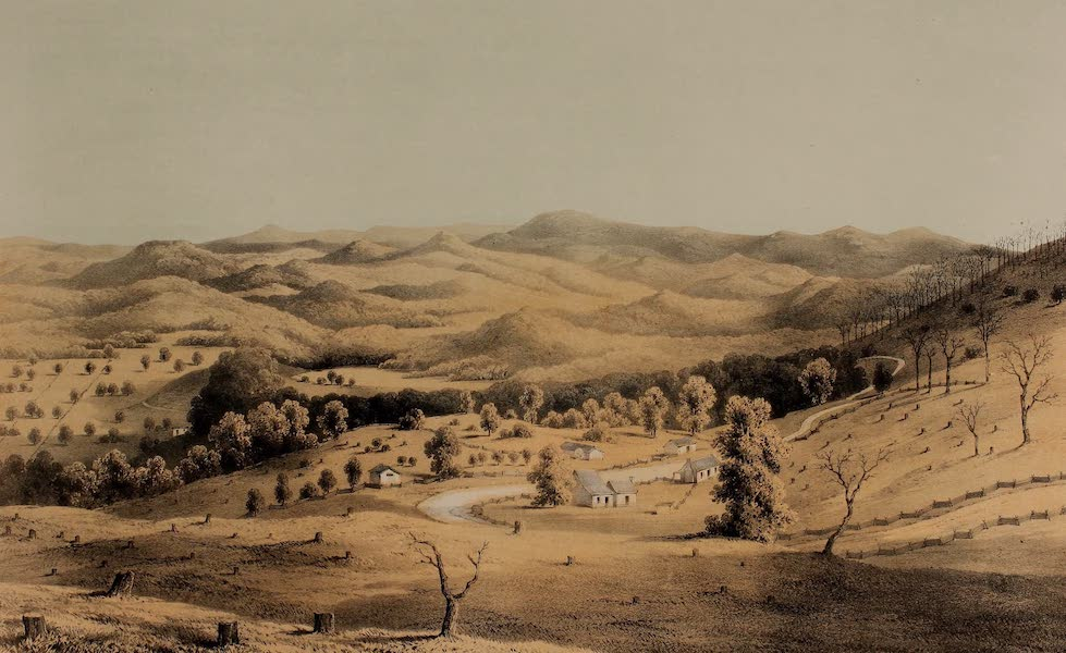Album of Virginia - View from Little Sewell, Mountain No. II (1858)