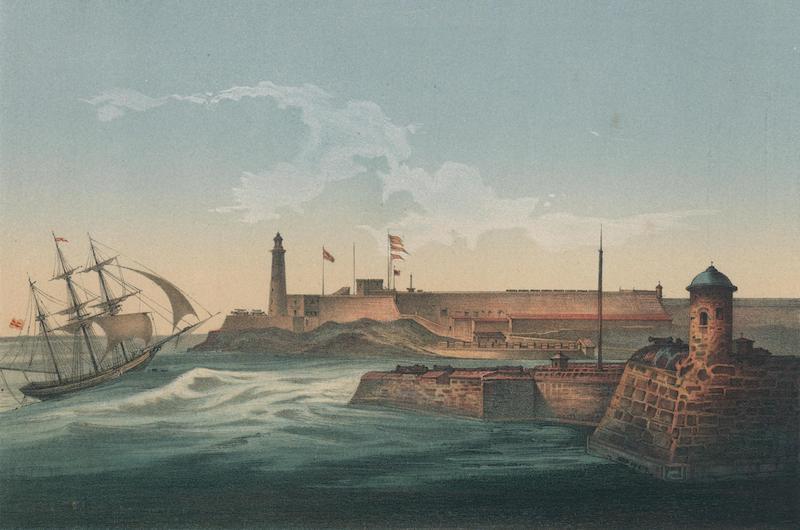 Album Pintoresco de la Isla de Cuba - Morro y Entrada Puerto de la Habana (1855)