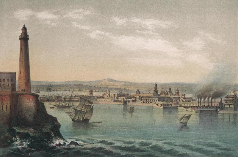 Album Pintoresco de la Isla de Cuba - Vista de la Habana. Tomada des de la entrada del Puerto No.1 (1855)