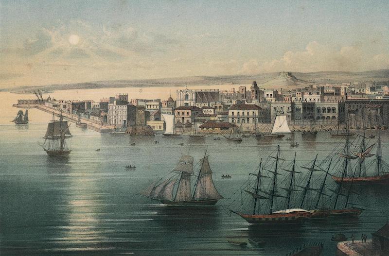 Album Pintoresco de la Isla de Cuba - Habana. First vista tomada des de Casa-Blanca. (1855)