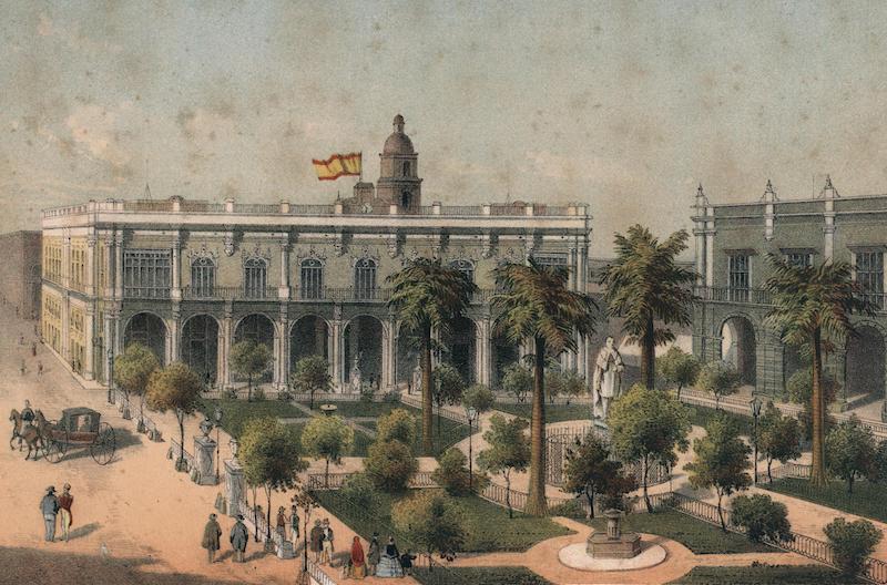 Album Pintoresco de la Isla de Cuba - Plaza de Armas (1855)