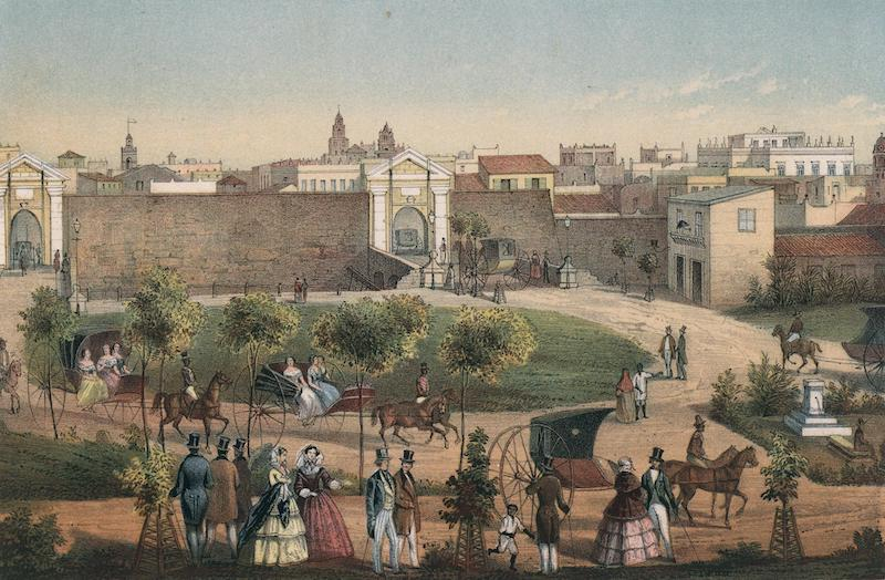 Album Pintoresco de la Isla de Cuba - Puertas de Monserrate (1855)