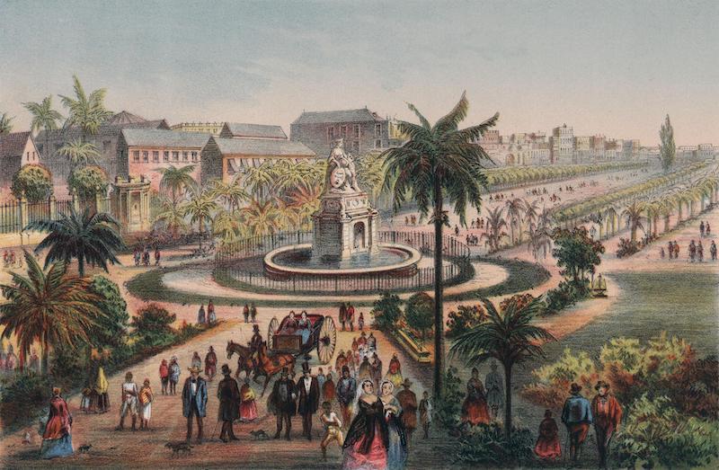 Album Pintoresco de la Isla de Cuba - Fuente de la India en El Paseo de Isabell II (1855)