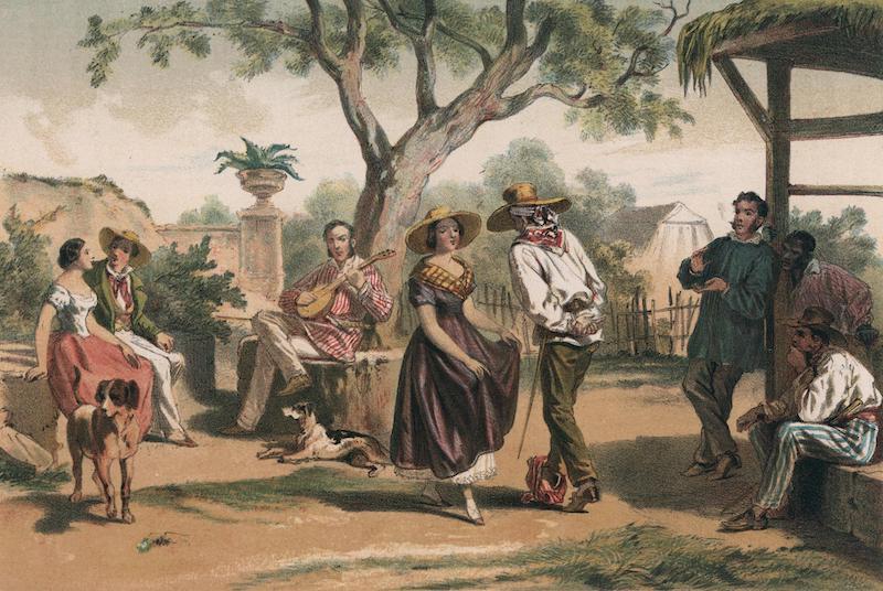 Album Pintoresco de la Isla de Cuba - El Zapateado. (The national dance.) (1855)